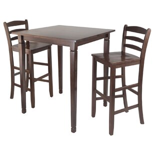 Red Barrel Studio Hemphill 3 Piece Counter Height Pub Table Set