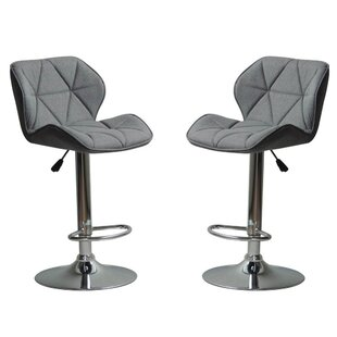Ousley Adjustable Height Bar Stool (Set of 2)