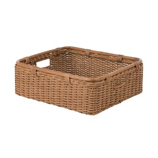 Superbe Wide Storage Shelf Wicker/Rattan Basket