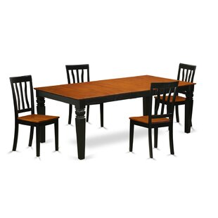 Beesley 5 Piece Extendable Solid Wood Din..