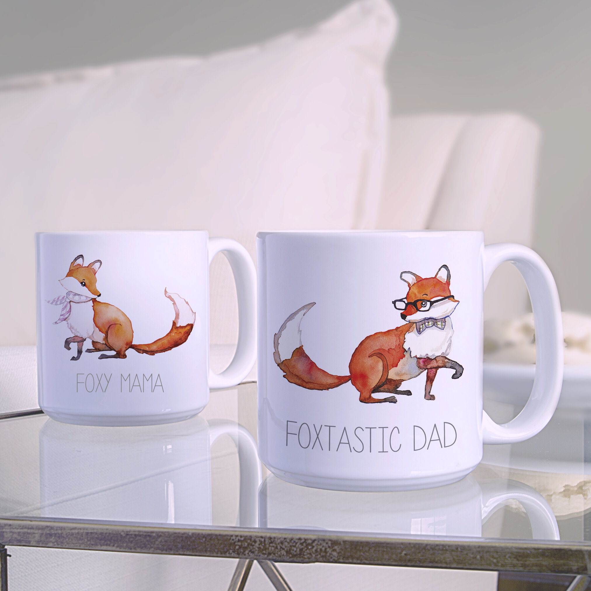 Mug And Foxy Coffee 2 Dad Set Foxtastic 20 OzLarge Mama Piece XiuOPZkT