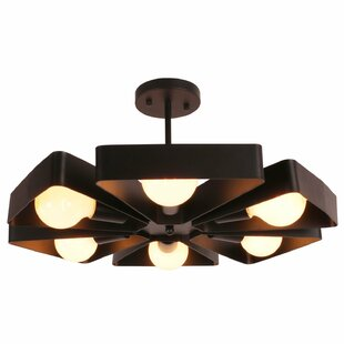 Unitary 6-Light Semi Flush..