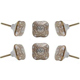 Drawer Pull Silver Crackled Metallic Effect Ceramic Cabinet Knob Silver Leaf Ceramic Door Handle