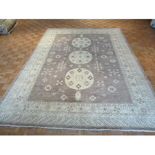 Purchase One-of-a-Kind Beauchemin Oushak Peshawar Hand-Knotted Lavender Area Rug By Isabelline