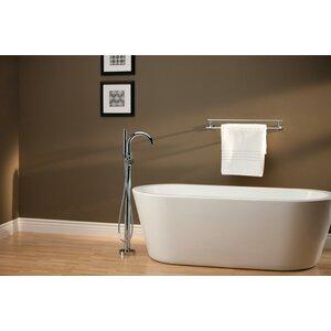 Trinsicu00ae Bathroom Single Handle Floor Mount Tub Filler with Hand Shower