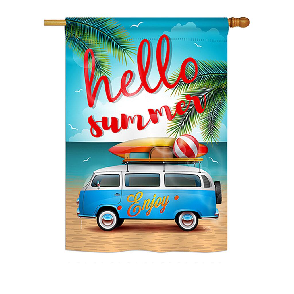 Breeze Decor Hello Summer 2 Sided Polyester 40 X 28 In House Flag Wayfair