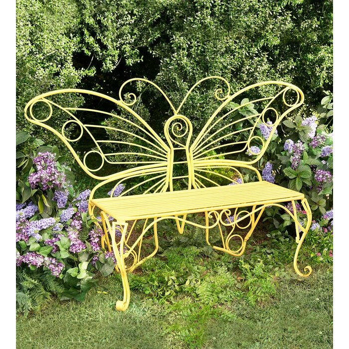 Groovy Butterfly Steel Garden Bench Ncnpc Chair Design For Home Ncnpcorg