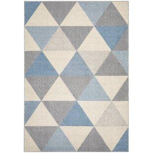 Zina Blue/Grey/Beige Rug by Longweave