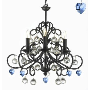 Rosdorf Park Boson Wrought Iron 5-Light C..