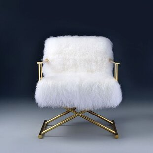 Pinkie Wool Armchair by Everly Quinn