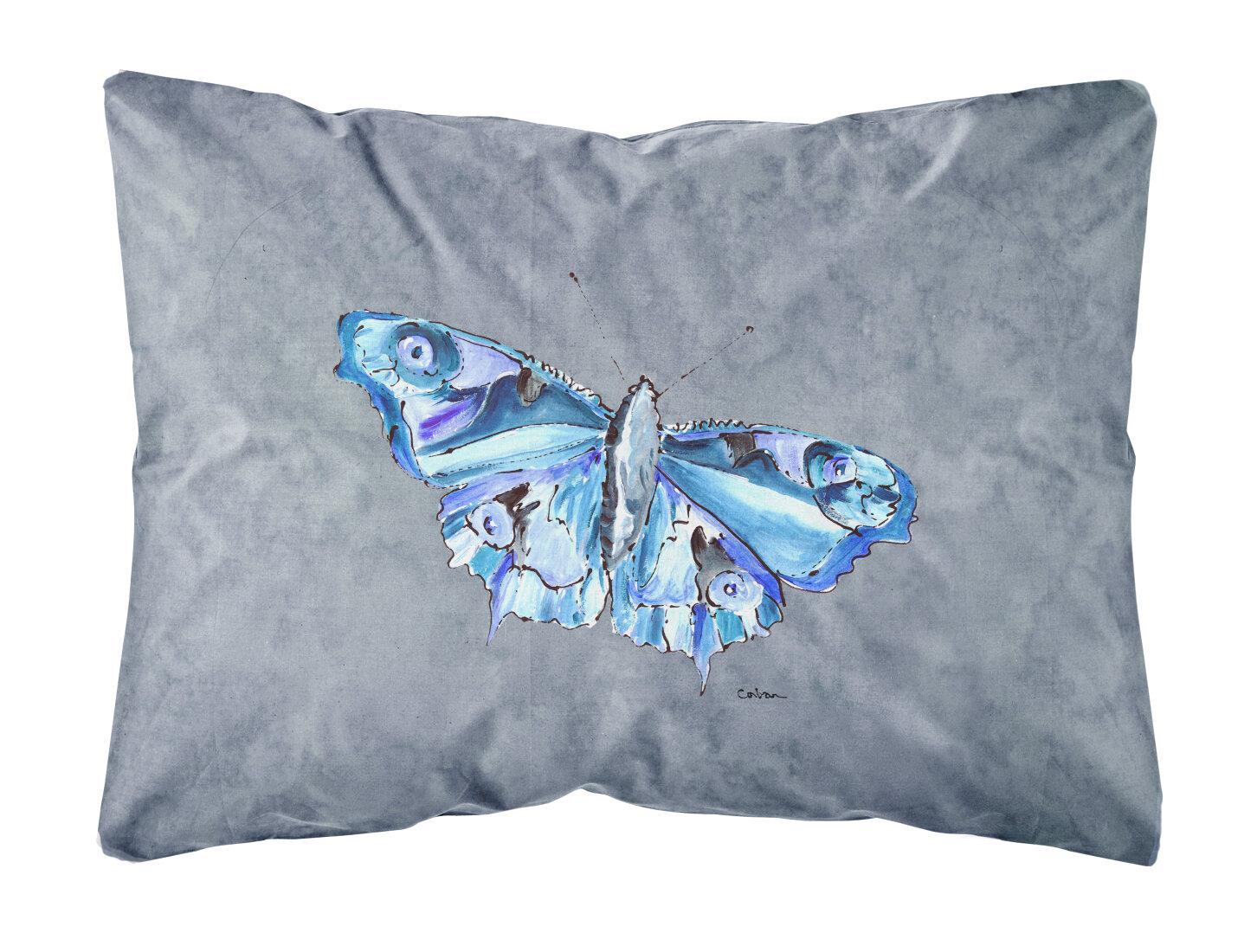 East Urban Home Butterfly Indoor Outdoor Gray Throw Pillow Wayfair