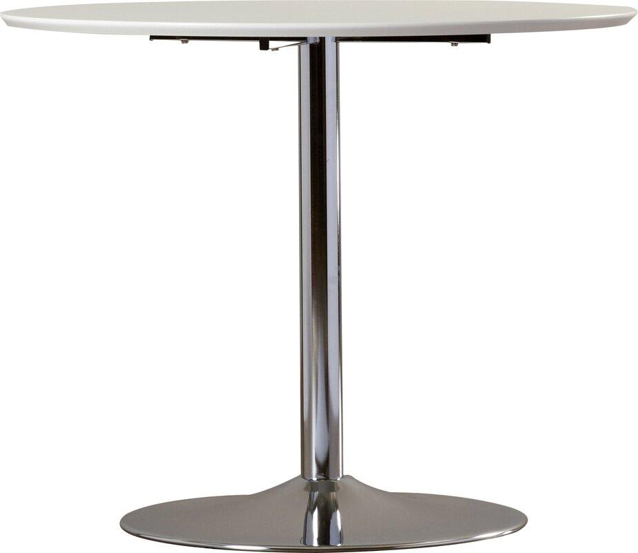 zipcode design ember metal base dining table & reviews | wayfair