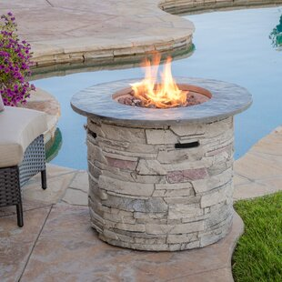 Playa Stone Propane Fire Pit Table by Home Loft Concepts Comparison