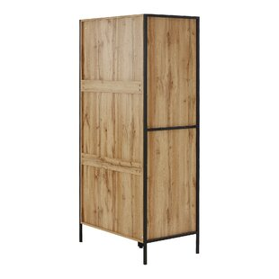 Bremond Block Robe 2 Door Wardrobe By Mercury Row
