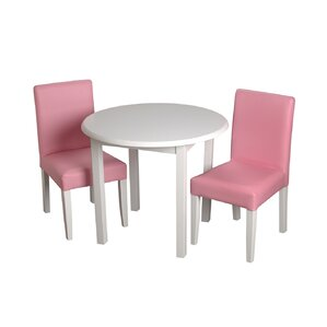 3 piece round table and chair set