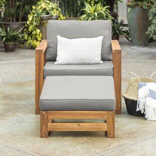 Union Rustic Lydon Patio Chair with Cushion
