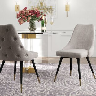 Colchester Upholstered Dining Chair (Set of 2) by Everly Quinn
