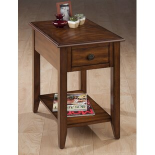 Eddie Finely Wooden Chairside End Table
