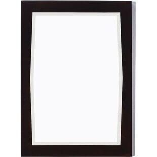 Winston Porter Rosehill Rectangular Birch Wood-Veneer Wall Mirror