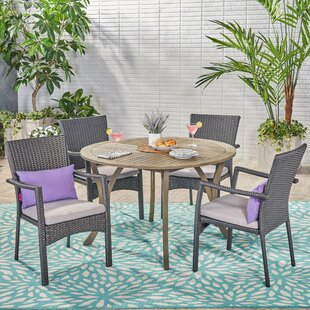 Ebern Designs Aarhus 5 Piece Dining Set with Cushions