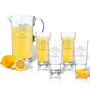 Tritan Bike 5 Piece Beverage Serving Set