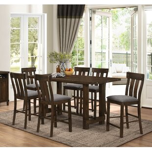 New Classic Frisco 7 Piece Counter Height Solid Wood Dining Set