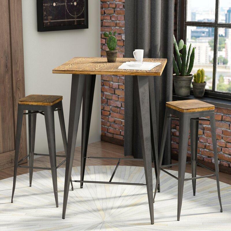 Claremont 3 Piece Pub Table Set & Trent Austin Design Claremont 3 Piece Pub Table Set \u0026 Reviews | Wayfair