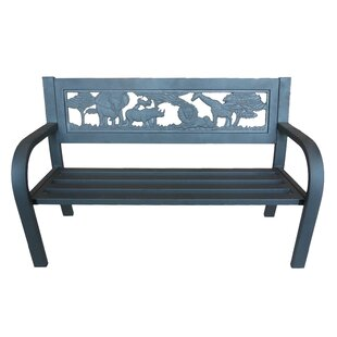 Pulver Safari Outdoor Metal Garden Bench