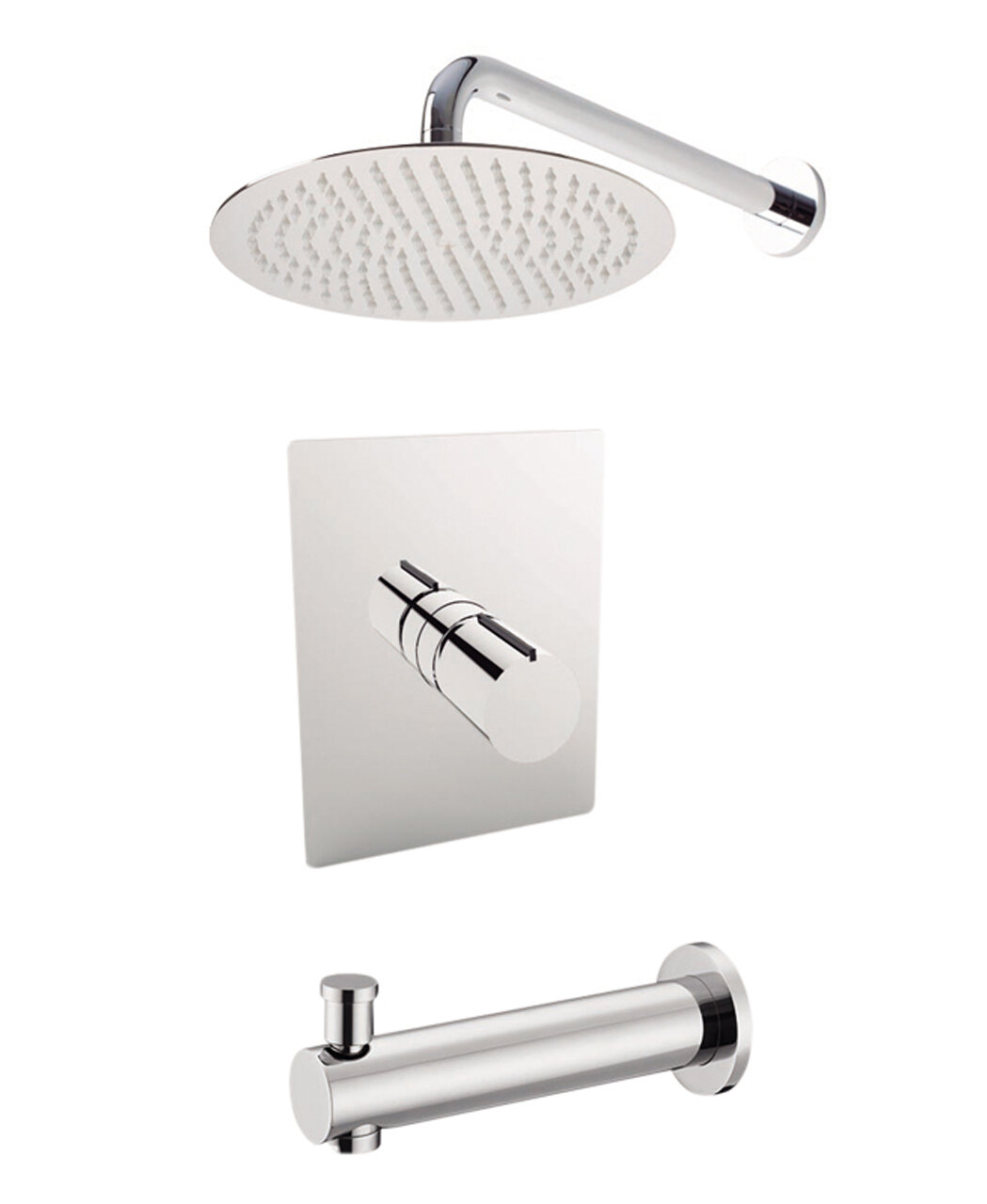 Barcelona Diverter Dual Function Volume Control Tub And Shower Faucet With Valve And Trim
