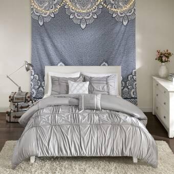 August Grove Lithonia Ruffle Lace Cotton Quilt Set Wayfair
