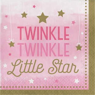 Twinkle Twinkle Little Star Paper Disposable Lunch Napkin (Set of 16)