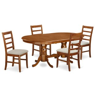 Pilcher Contemporary 5 Piece Wood Dining Set August Grove