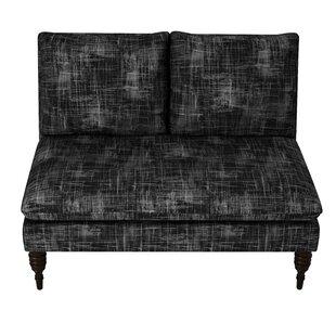 Brayden Studio Styles Metallic Crossweave Armless Loveseat
