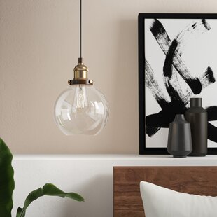 Dunneback 1-Light Globe Pendant by Mercury Row