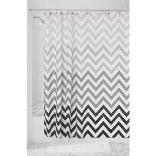 Black White Chevron Shower Curtain. Save to Idea Board Chevron Shower Curtains You ll Love  Wayfair
