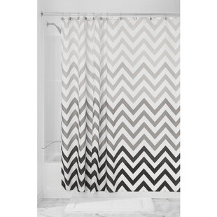 Ombre Chevron Single Shower Curtain