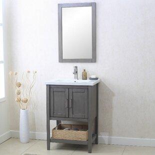 Annabel 24 Single Bathroom Vanity Set with Mirror ByBeachcrest Home