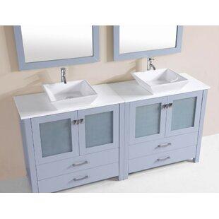 Lapp Modern 71 Double Bathroom Vanity Set ByLatitude Run
