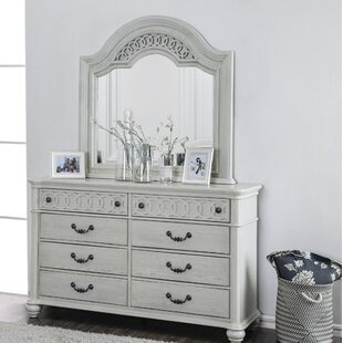 Reviews Aubrie 8 Drawer Double Dresser With Mirror by Rosdorf Park
