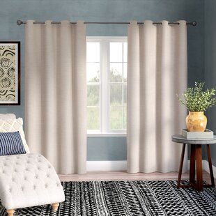 Breanna Heavy Textured Solid Outdoor Curtain Panels (Set of 2) by Mistana