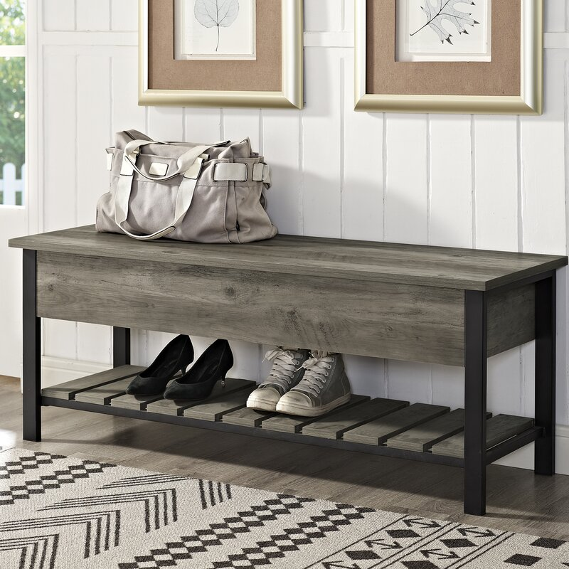 Savon Open-Top Wood Storage Bench entryway furniture How to Organize Your Entryway Furniture Savon Open Top Wood Storage Bench