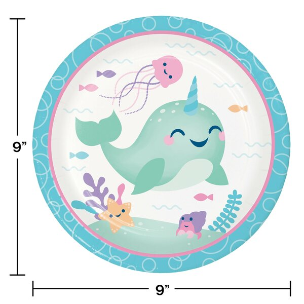 Creative Converting Narwhal Party Heavy Weight Paper Dinner Plate Wayfair