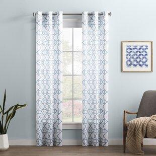 Wayfair Basics Trellis Semi-Sheer Grommet Single Curtain Panel by Wayfair Basics™