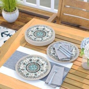 Renner Melamine Dinner Plate (Set of 6) by Beachcrest Home