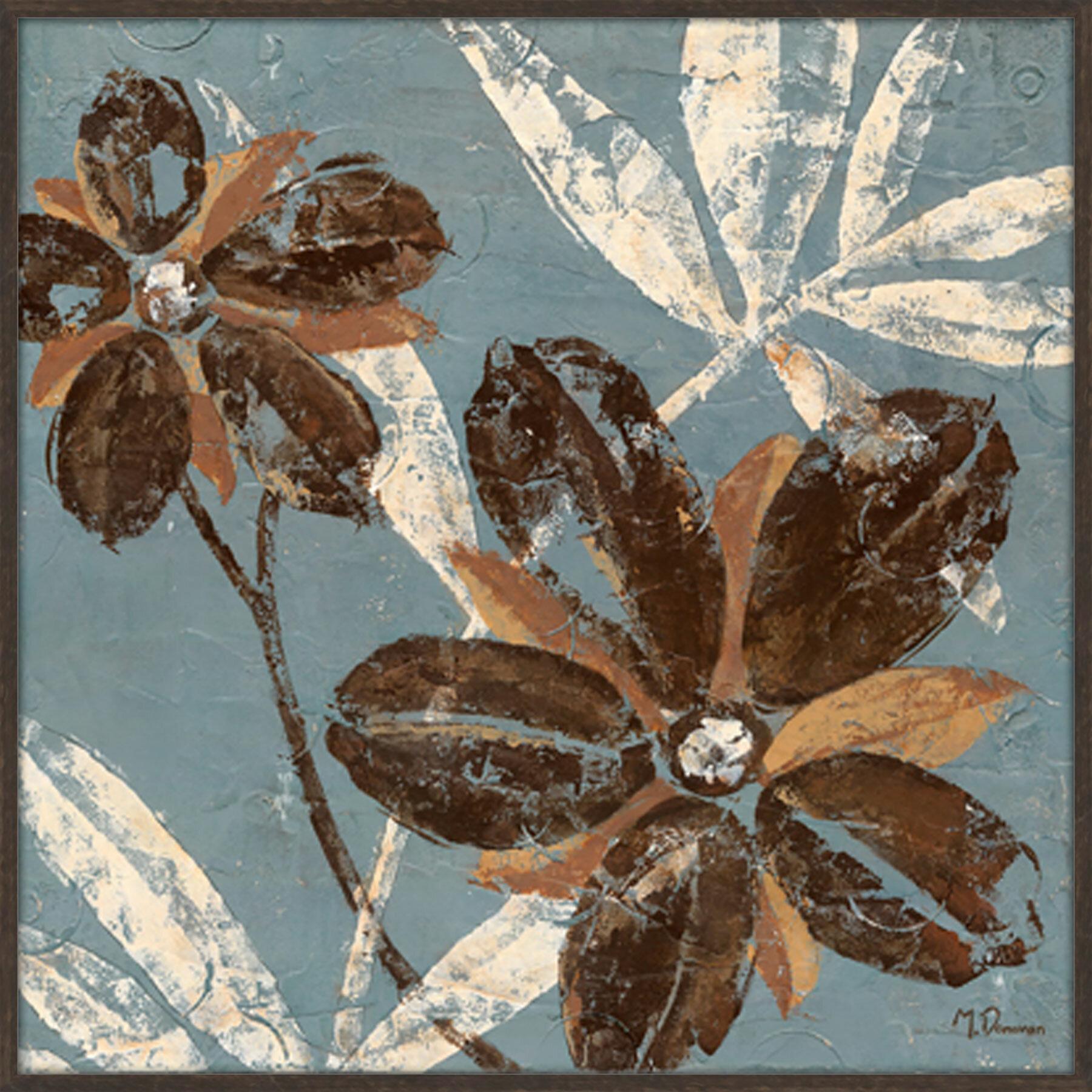 Ptm Images Flowers On Denim 2 Piece Framed Graphic Art Set Wayfair