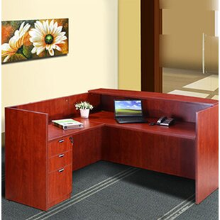Symple Stuff Contemporary 3 Piece L-Shape Desk Office Suite