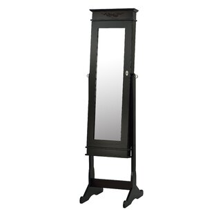 Alcott Hill Budde Free Standing Jewellery Armoire with Mirror