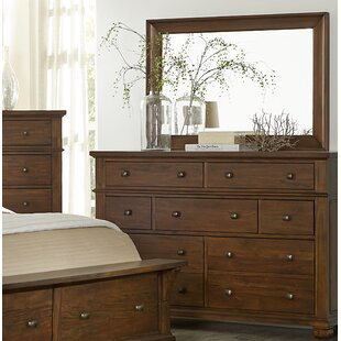 Chesley 7 Drawer Dresser with Mirror
