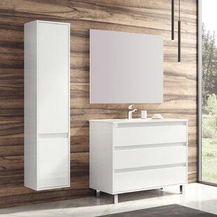 Compare prices Gielarowski Desi 32 Wall Mounted Single Bathroom Vanity Set ByOrren Ellis