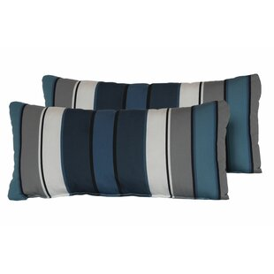 Thane Stripe Rectangle Outdoor Lumbar Pillow (Set of 2)